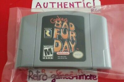 CONKER'S BAD FUR DAY Nintendo 64, AUTHENTIC N64 Cartridge only, Fast ship, Nice