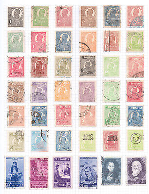 ROMANIA  Album page of Used Stamps (M219)