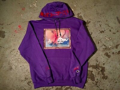 Kids See Ghosts KSG kanye west Kid Cudi V1 V2 tour merch tan purple hoodie NEW