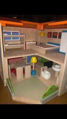 New Wooden Dolls House Complete With Furniture