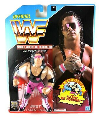 3e610083ce Bret Hart  1 Vintage WWF Hasbro MOC Action Figure New 1992 WWE Foreign Card  90s