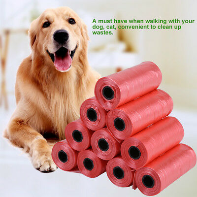 10Roll Biodegradable Dog Poo Bag Pet Cat Waste Poop Clean Pick Up Garbage Bag BS