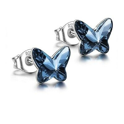 ANGEL NINA Women Butterfly Series Pierced Stud Earrings Neckalce [Sold Separa...