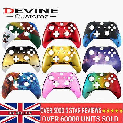 For Xbox One S X Controller Front Shell Custom Designs Flame Galaxy Lightning