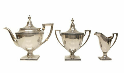 3pc Gorham Mfg Co. Sterling Silver Tea Service Set in Etruscan, Issued 1928