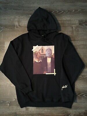 Kids See Ghosts KSG Pablo kanye west Kid Cudi V1 V2 tour merch black hoodie NEW