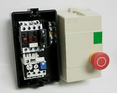 2HP 230V 3 PH NHD Enclosed Motor Starter START E-STOP 6-8A Overload 220VAC Coil