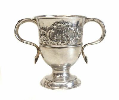 Exquisite James Young George III London Sterling Silver Footed Trophy Cup, 1776