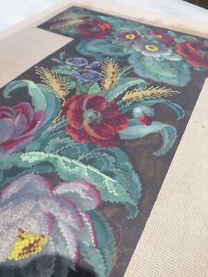 Large Antique Hand Painted Berlin Woolwork Tapestry Chart- Seat Back