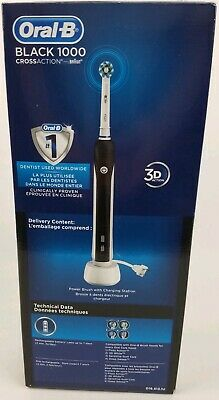 Oral-B Black Pro 1000 Power Rechargeable Electric Toothbrush, Black