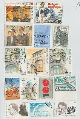 Belgium Range Of Modern Issue Used  #