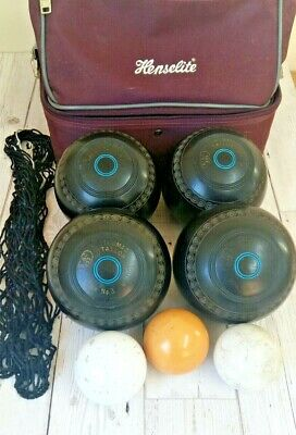 Thomas Taylor Lignoid Bowls Size 3 M-J101 / BIBC A99 + Bag,Net And 3 Bowls Jacks