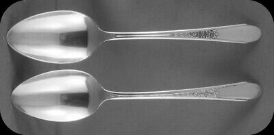 Two Wm Rogers IS Gardenia Dinner Spoons 2 (3 sets of two available)