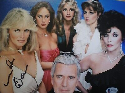 "Hand Signed Photo Linda Evans ""dynasty"" As ""krystle"" With Various Co-Stars-Cert"