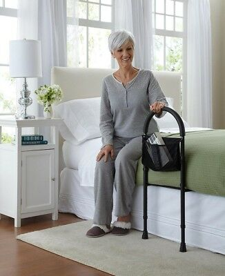Bed Assist Handle Bar Elderly Safety Rail Height Adjustable Either Side Fit Most