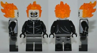 A1254 Lego CUSTOM PRINTED marvel agents shield GHOST RIDER MINIFIG Robbie Reyes