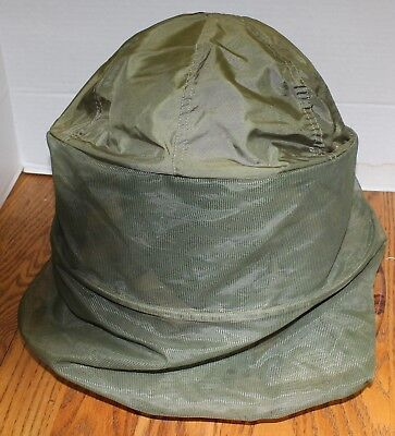 02ba3e3fbe6 U.s Military Vietnam Boonie Jungle Hat With Insect Mosquito Net Od Green Vgc