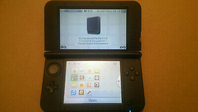 Nintendo 3DS XL Blue & Black Handheld System and games (r4)