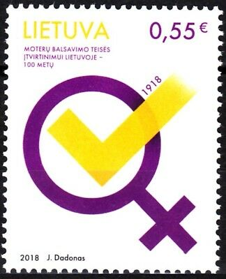 LITHUANIA 2018-15 Women's Voting Rights Centenary, MNH