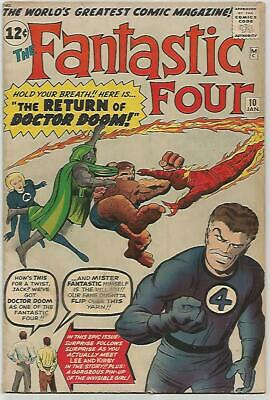 FANTASTIC FOUR # 10   Beautiful Early Silver Age Very NICE!