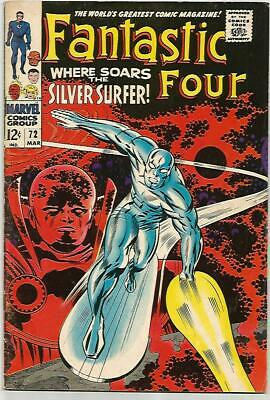 FANTASTIC FOUR # 72   SILVER SURFER Cover! Silver Age  NICE!