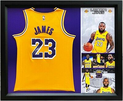 size 40 721a6 98438 LEBRON JAMES HAND Signed LA Lakers Framed Jersey with COA