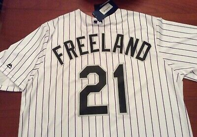 78597634374 Kyle Freeland XL Jersey Colorado Rockies  21 Home Pinstripe Extra Large  Majestic
