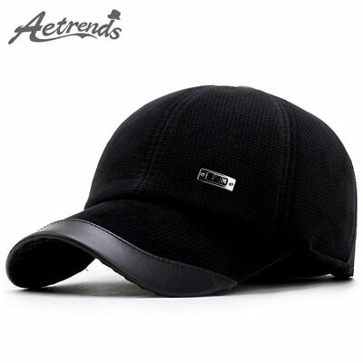 [AETRENDS] Corduroy Baseball Hats Caps Men Suede Cap Dad Hat Thicken with Ear