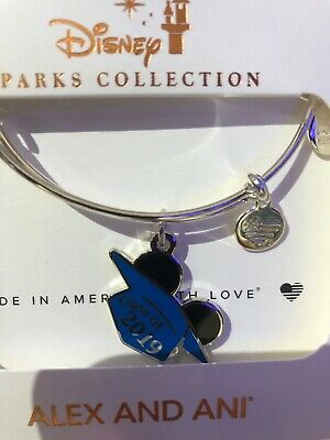 Disney Parks Class of 2019 Graduation Cap Alex and Ani Bangle Silver
