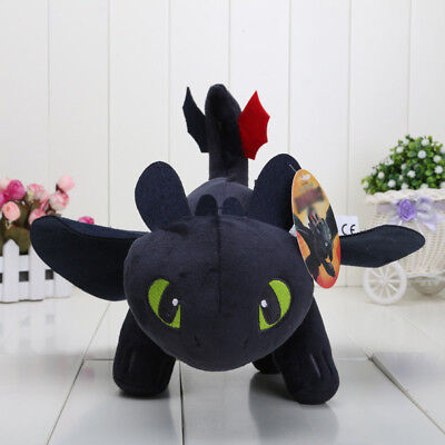 10'' How to Train Your Dragon Toothless Night Fury Stuffed Animal Plush Toy Gift