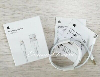 Genuine OEM Original Apple Lightning Cable Charger USB Cord iPhone 6 7 8 X Plus.