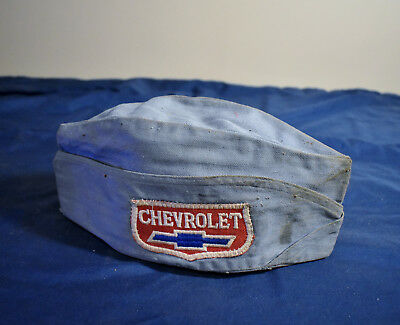 1950s Chevrolet Mechanics Hat Chevy Dealership Cap Gas Station 1940s RARE