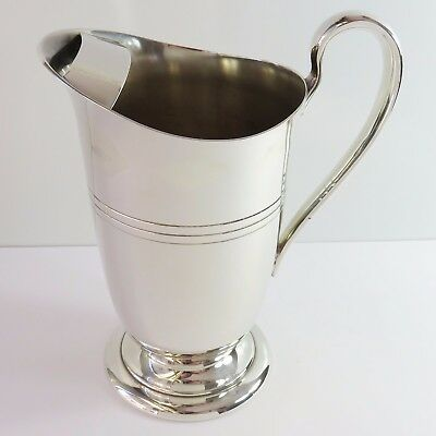 Vintage Carrington Silverplate Water Jug/Pitcher With Ice Stopper