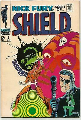 NICK FURY Agent Of SHIELD #5    Beautiful Early Silver Age  Nice VF8.0