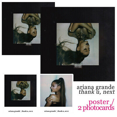 ARIANA GRANDE - thank u, next (KOREA CD + LIMITED POSTER & 2 PHOTOCARDS / NEW!)