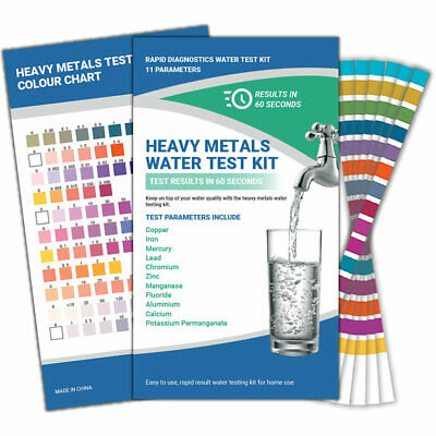 Heavy Metals Fluoride Water Testing Kit (Australian Water Standards)