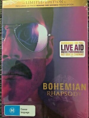 Bohemian Rhapsody LIVE AID LIMITED EDITION (DVD, 2019), NEW SEALED AUSTRALIAN