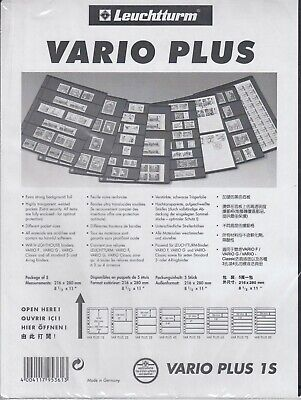 1 Pocket Lighthouse Black VARIO PLUS 1S Pages Strong and Stiff Sheets Pack of 5