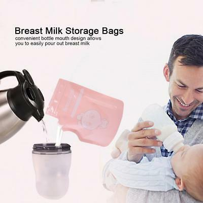30/60Pcs Bag Cmbear Breast Milk Storage Baby Food 250ml Freezer Container Bag BT
