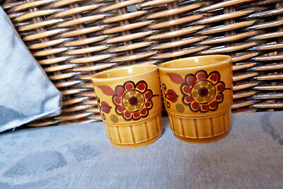 Royal Worcester Palissy Sierra 2 x Egg Cups Made in England