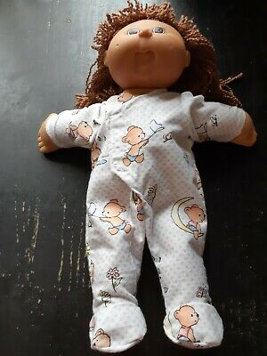 Homemade Cabbage Patch Doll White with Bears Coverall Pyjamas
