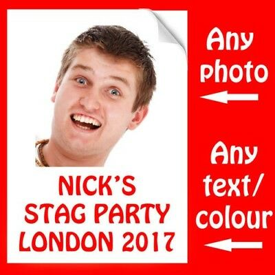 T-Shirt Iron On Transfer For Stag Party Do Personalsied Photo And Text