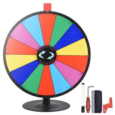 """24"""" Prize Wheel Tabletop Colour Dry Erase Stand Fortune Spinning Game Fortune UK"""