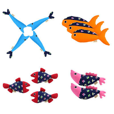 Pet Cat Catnip Lovely Artificial Fabric Fish Toys Pet Cat Chew Play Toy NG2009