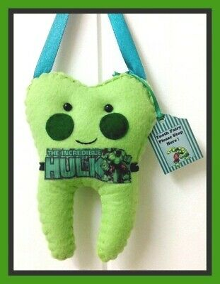 Tooth Fairy Hulk insp Tooth Fairy Handmade Lost tooth/money Goes in pocket-SALE