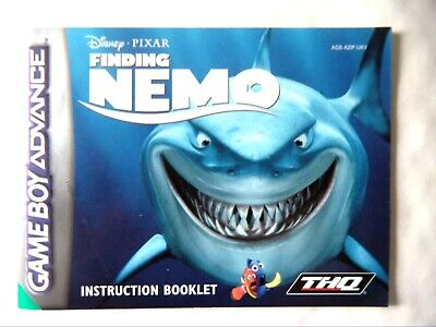 61473 Instruction Booklet - Finding Nemo - Nintendo Game Boy Advance () AGB-AZIP
