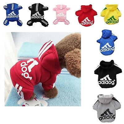 Dog Jumpsuit Casual Adidog Hoodie Warm Sweatshirt Coat Clothes For Pet Puppy