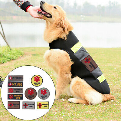 Embroidery patch pet service dog tactical army emblem military badge clothing FG
