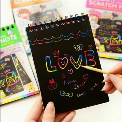 Scratch Sketch Art Note Rainbow Magic Doodle Notes Perfect Travel Activity Gift