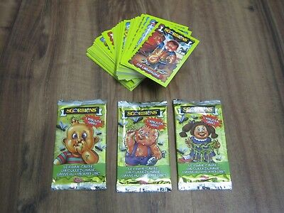 Garbage Pail Kids Italian Sgorbions 2018 96 Card Base Set & 3 Variant Wrappers